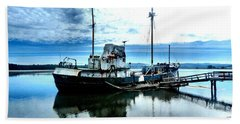 Ghost Ship Trawler - 2 Beach Sheet by Sadie Reneau