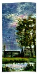 Beach Sheet featuring the painting Ghost Town.. by Cristina Mihailescu