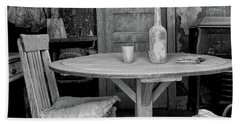 Beach Towel featuring the photograph Ghost Town Table by Tom Singleton