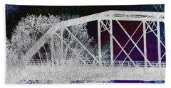 Ghostly Bridge Beach Sheet