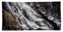 Beach Towel featuring the photograph Ghostly Flows by Rikk Flohr