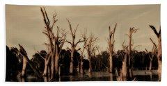 Ghostly Trees V2 Beach Sheet by Douglas Barnard