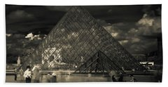 Ghosts Of The Louvre Beach Towel