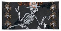Ghoulish Guests Welcome Beach Towel