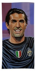 Gianluigi Buffon Painting Beach Towel by Paul Meijering