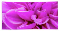 Giant Dahlia Fuhsia Beach Towel