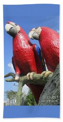 Giant Macaws Beach Sheet by Randall Weidner
