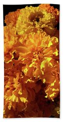 Giant Marigolds Beach Towel