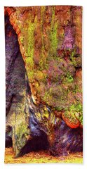 Giant Sequoia Base With Fire Scar Beach Towel