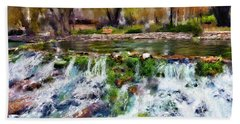 Giant Springs 1 Beach Towel by Susan Kinney