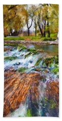 Giant Springs 2 Beach Towel by Susan Kinney