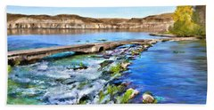 Giant Springs 3 Beach Towel by Susan Kinney