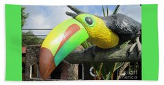 Giant Toucan Beach Towel by Randall Weidner