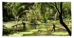 Giant Waterlily Paddies Vietnam Beach Towel