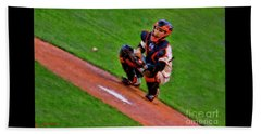 Giants Buster Posey Gets Fast Ball Beach Towel