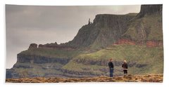 Beach Towel featuring the photograph Giants Causeway by Ian Middleton
