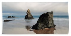 Giants On Sango Bay Beach Towel