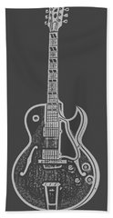 Gibson Es-175 Electric Guitar Tee Beach Towel by Edward Fielding