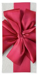 Gift Box With Red Bow Beach Towel