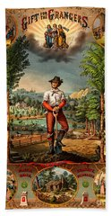 Gift For The Grangers 1873 Victoiran National Grange Agriculture Promotional Art Beach Towel
