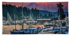 Gig Harbor Dusk Beach Towel