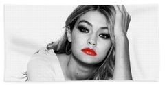 Gigi Hadid 1c Beach Towel by Brian Reaves
