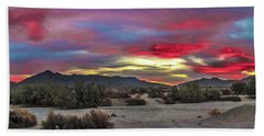 Gila Mountains And Sonoran Desert Sunrise Beach Sheet by Robert Bales