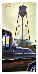 Gilbert Arizona Water Tower Beach Towel by Karyn Robinson
