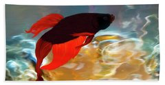 Beach Towel featuring the painting Gilberts Red Beta by Patricia Griffin Brett