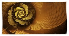 Gilded Flower Beach Towel