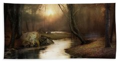 Beach Towel featuring the photograph Gilded Woodland by Robin-Lee Vieira