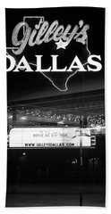 Gilley's Dallas V3bw Beach Towel