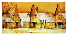 Gingerbread Cottages Beach Towel