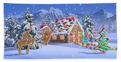 Gingerbread House Beach Towel