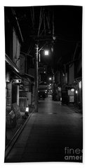 Gion Street Lights, Kyoto Japan Beach Towel