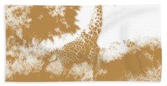 Giraffe 2 Beach Towel