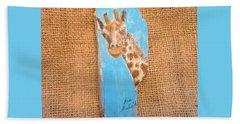 Giraffe  Beach Towel by Ann Michelle Swadener