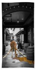 Giraffe Drinking Whiskey Series 4987y Beach Towel