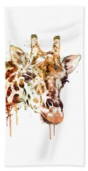 Giraffe Head Beach Towel by Marian Voicu