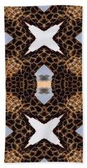 Giraffe I Beach Sheet by Maria Watt