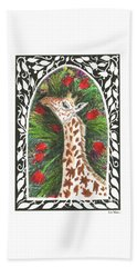 Giraffe In Archway Beach Sheet