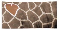 Giraffe Love Beach Towel