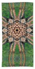Giraffe Mandala II Beach Sheet by Maria Watt