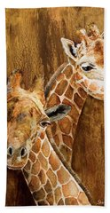 Giraffe Pair Beach Towel