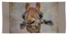 Beach Towel featuring the photograph Giraffe by Savannah Gibbs