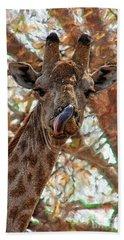 Giraffe Says Yum Beach Sheet