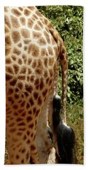 Giraffe Tails Beach Towel
