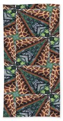 Giraffe Through The Window Beach Towel