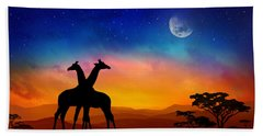 Giraffes Can Dance Beach Sheet