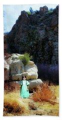 Girl At Piru Creek Beach Towel by Timothy Bulone